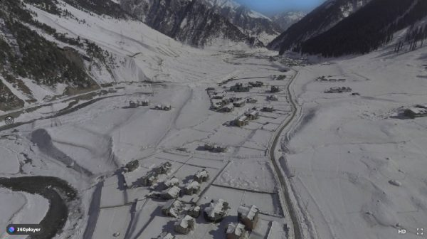 Aerial 360 Snow land Resorts Sonmarg