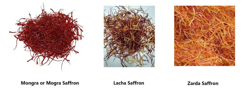 Types of saffron