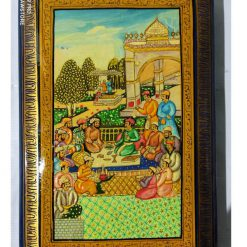Mughal Durbar Embossed Paper Mache Jewelry Box