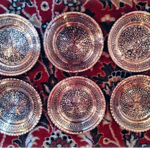 6 Handmade Copper Plates