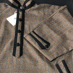 Men Brown Checkered Pheran