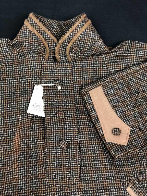 Brown/Black Combination Checkered Pheran for Men
